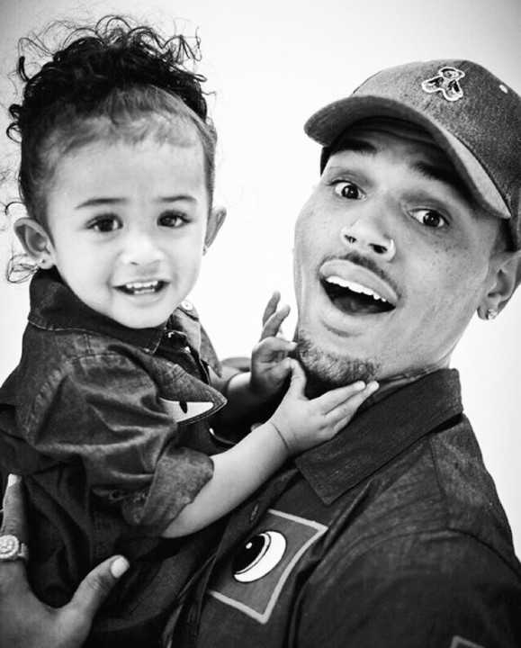 PIX FATHERS AND FAM CHRIS BROWN