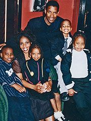 PIX FATHERS AND FAM DENZEL WASHINGTON AND FAMILY